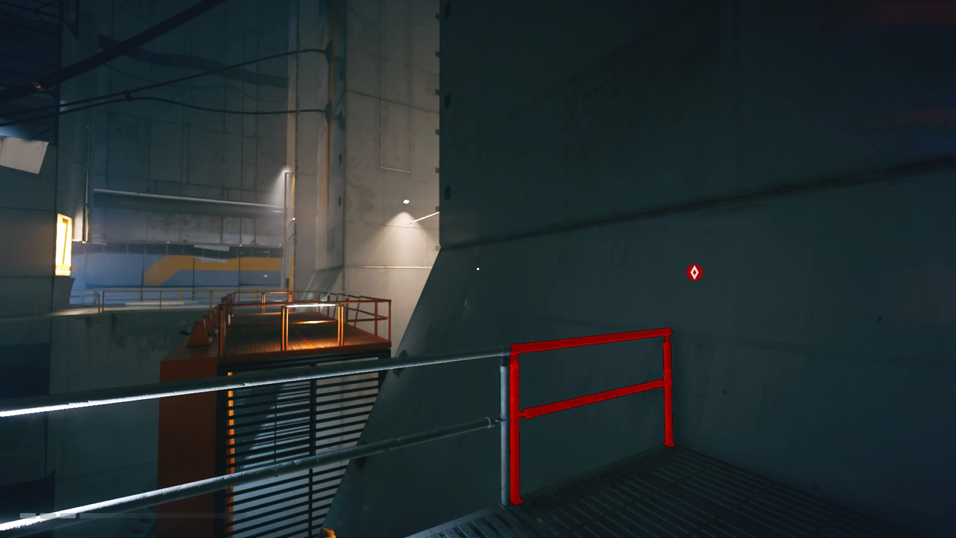 mirrors edge catalyst - example of when runner vision correctly paints an object red
