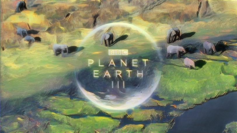 Planet Earth III title screen styled with Nausicaa Valley of the Wind