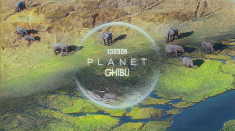 planet earth scene styled with default parameter values
